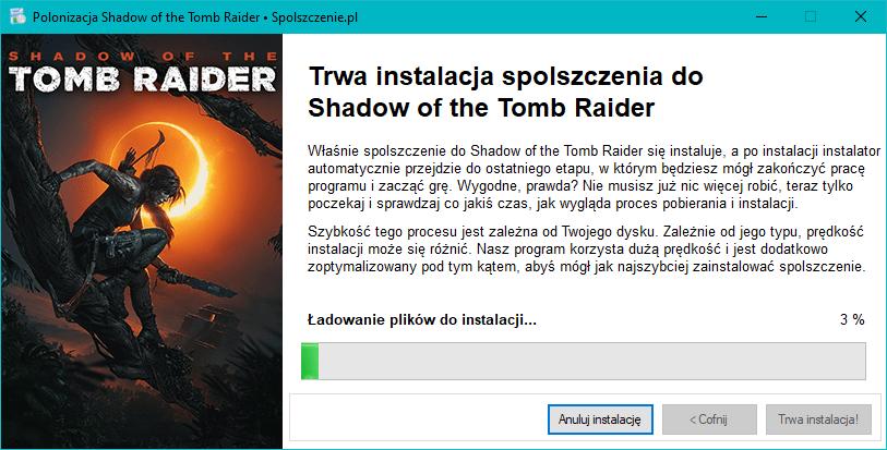 spolszczenie Shadow of the Tomb Raider