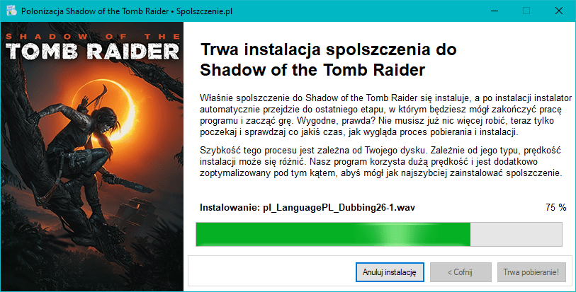 Shadow of the Tomb Raider polonizacja