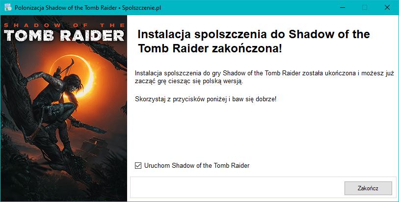 Shadow of the Tomb Raider spolszczenie download