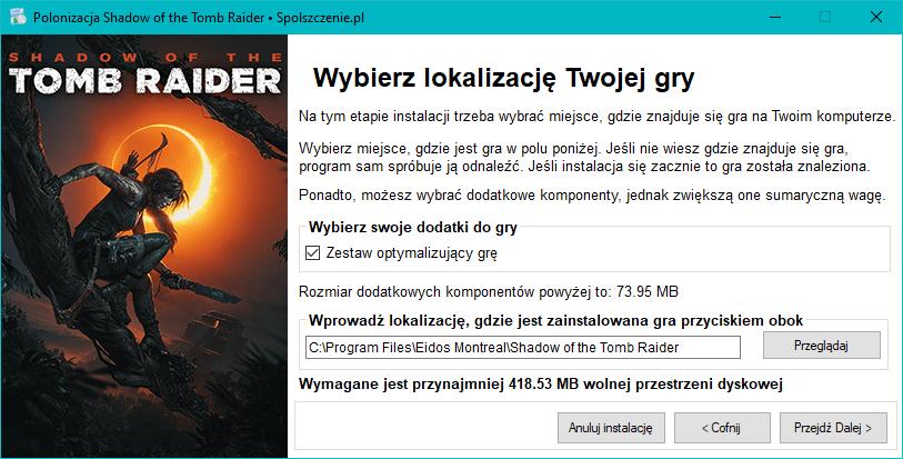 spolszczenie do Shadow of the Tomb Raider