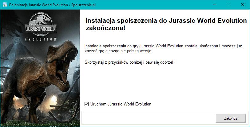 Jurassic World Evolution spolszczenie download