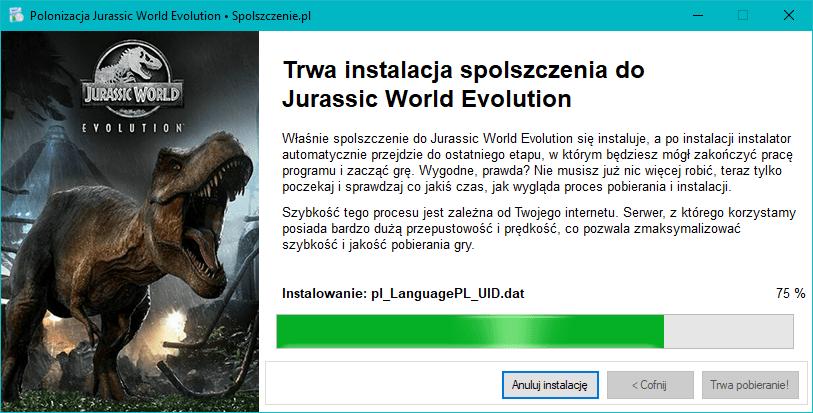 Jurassic World Evolution polonizacja